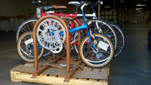 Prototype rack w bikes