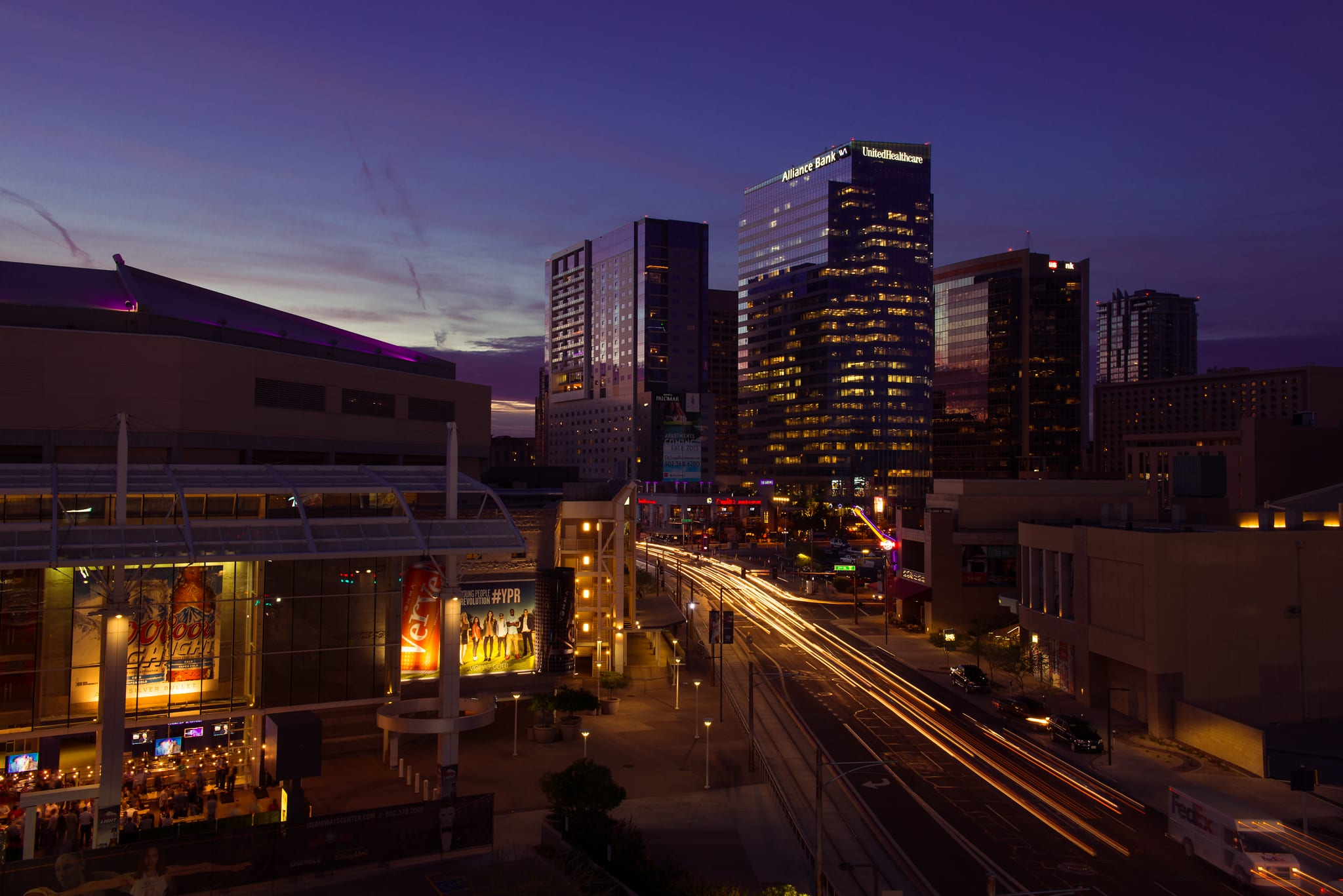 Downtown Phoenix at night