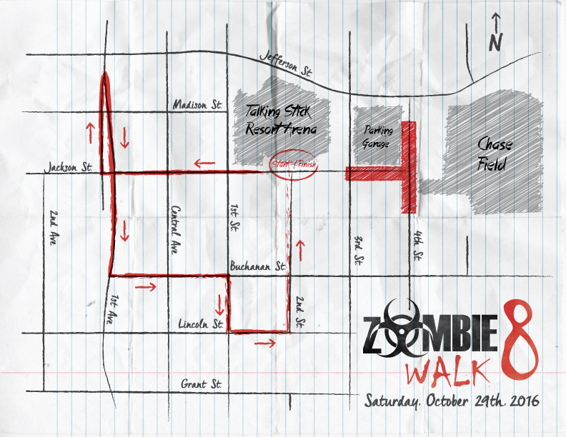 Zombie Walk 8 Route Map