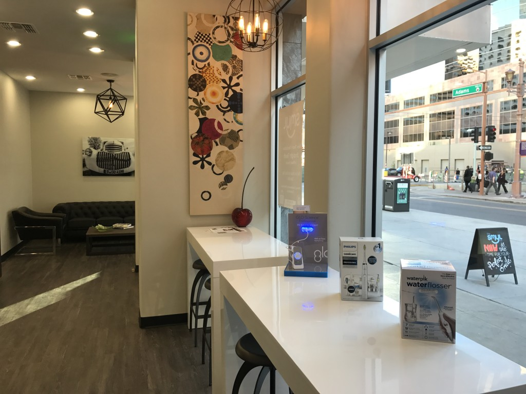 With a bright and inviting storefront at 10 W. Adams, The Smyl Co. offers convenient, quality orthodontic care to workers, residents and students in Downtown Phoenix.(Photo: Lauren Potter)