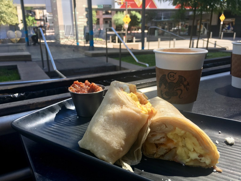 Chico Malo's new ham breakfast burritos were just the right size for my early meal. (Photo: Leah Goldberg)
