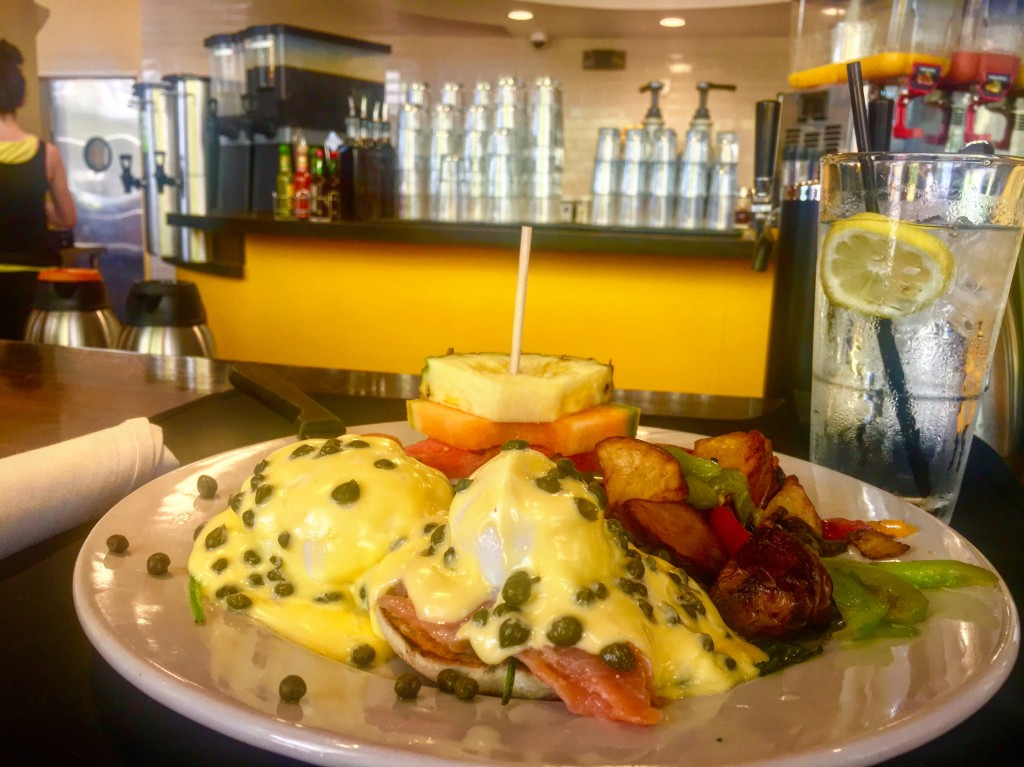 The benedicts at The Breakfast Club are a community favorite and now we can see why. Just look at all of that hollandaise! (Photo: Leah Goldberg)