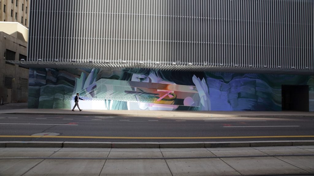 "Clyde ""Timeless"" mural on Renaissance Hotel"