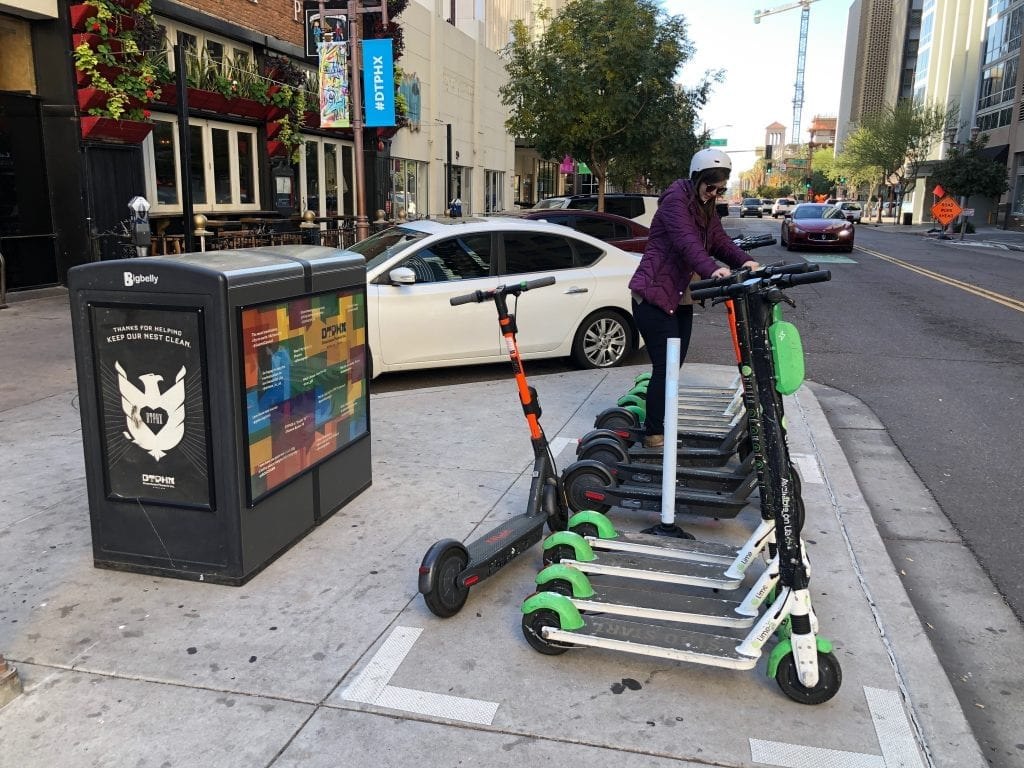 Scooters in Downtown Phoenix