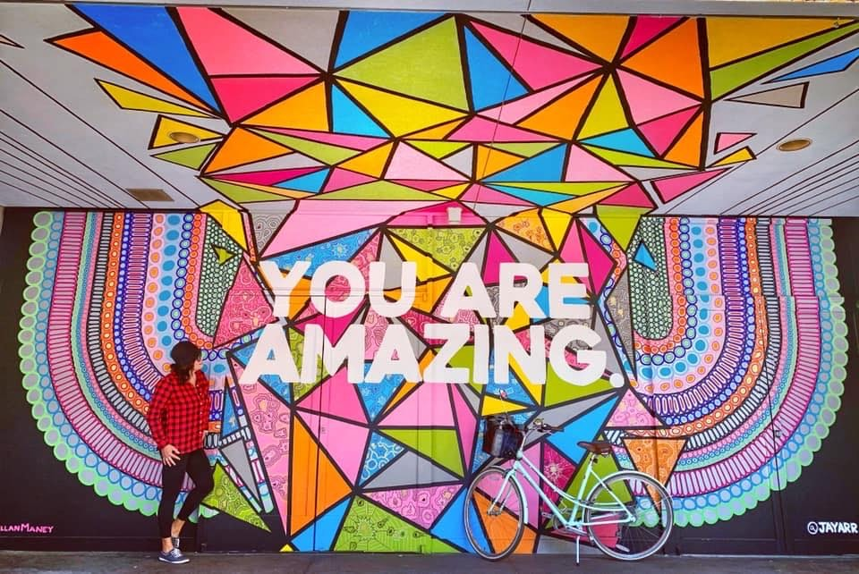 You Are Amazing mural by Jayarr and Kyllan Maney