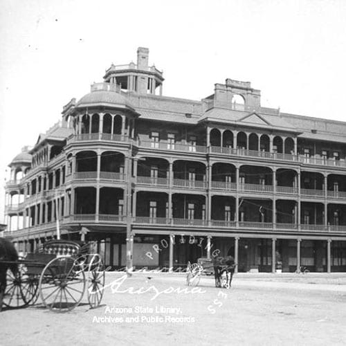 The Adams Hotel was built on the northeast corner of Adams Street and Central Avenue.