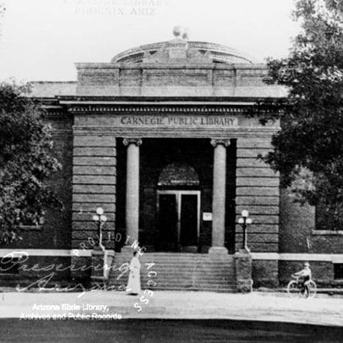 Dorothy Bacon McClintock, wife of James Harvey McClintock, recieved a Carnegie Grant to build the Phoenix Public Library.