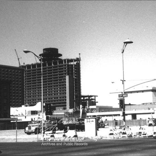 The Hyatt Regency was completed, complementing Phoenix Civic Plaza and Phoenix Symphony Hall.