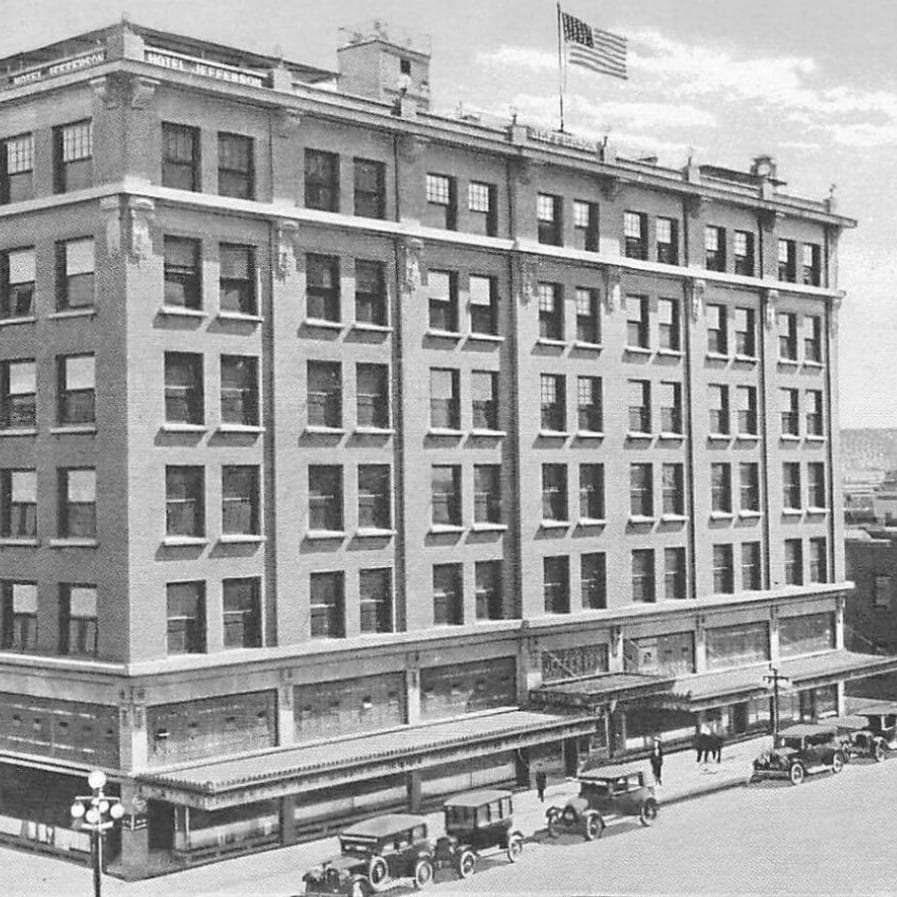 At six stories tall, The Jefferson Hotel became the first high-rise building in Phoenix.