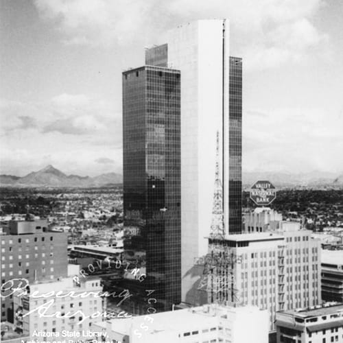 Valley Center Tower (Chase Tower) opens as the tallest building in Arizona.