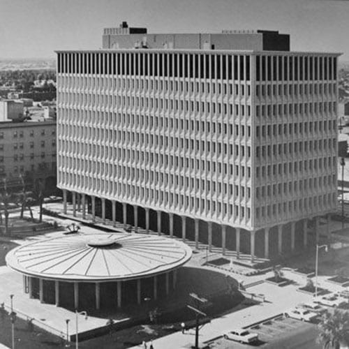 The Calvin C. Goode Municipal Building opened on Washington Street and Third Avenue.