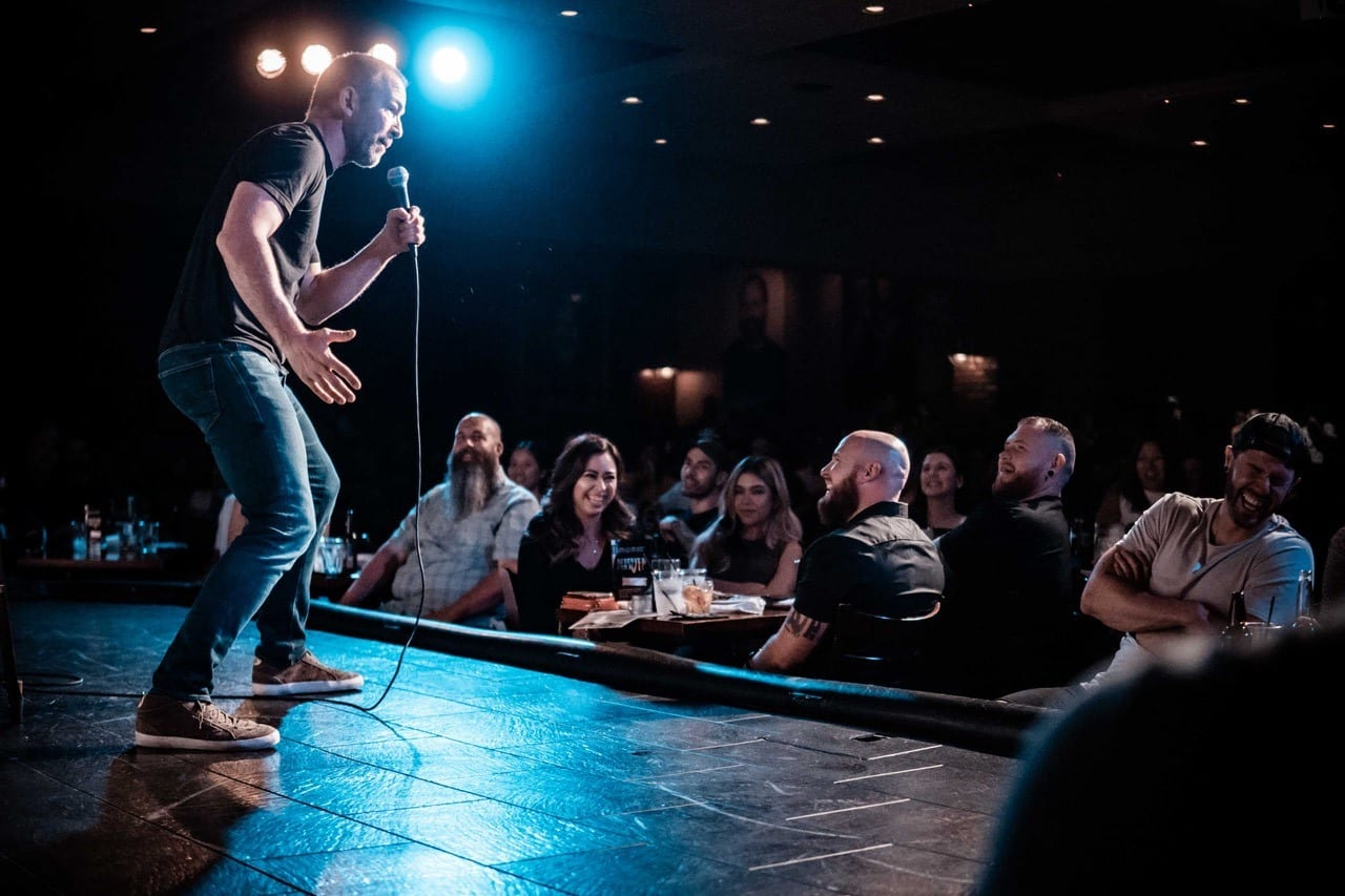 Stage and audience at Stand Up Live